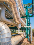 Liquid and chemical pipe line transfer Stock Photo