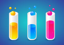 Liquid chemical substance in tubes Stock Photography