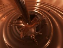 Liquid chocolate Stock Photography