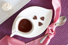 Liquid chocolate Stock Images