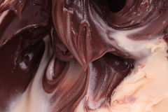 Liquid chocolate cream Royalty Free Stock Image