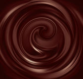 Liquid chocolate. Flow of liquid chocolate full screen as background Royalty Free Stock Photos