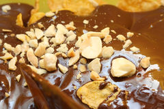 Liquid Chocolate with Nuts I Stock Photos