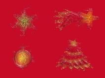 Liquid Christmas set Royalty Free Stock Photography