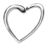 Liquid Chrome Heart Royalty Free Stock Photos