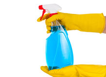 Liquid cleaner on  background Royalty Free Stock Photos