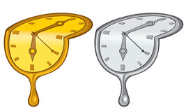 Liquid clock Royalty Free Stock Image