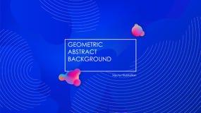 Liquid color background design. Fluid blue gradient shapes. Design landing page. Futuristic abstract composition. Vector Illustration vector illustration