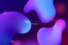 Liquid color background design. Fluid gradient shapes composition. Futuristic design posters. stock illustration