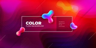 Liquid color covers set. Fluid shapes composition. Futuristic design posters. Eps10 vector. stock illustration