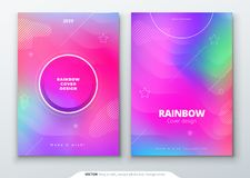 Liquid color covers set. Fluid shapes composition. Futuristic design posters. Eps10 vector. royalty free illustration