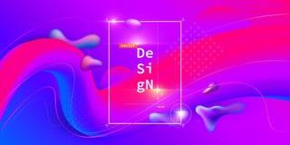 Liquid color geometric background Vector Illustration