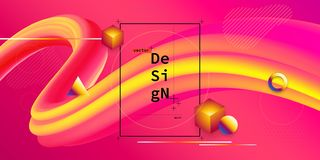 Liquid color geometric background stock photo