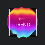 Liquid color gradient covers. Fluid shapes. Futuristic design fo. R: logo, posters or any branding. EPS8 Stock Photography