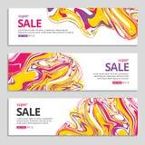 Liquid Color splash sale background in frame Stock Photography