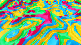Liquid colorful background. Illustration 3d render Stock Photos