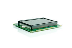 Liquid crystal display module. Isolated on the white backgroun Royalty Free Stock Photo