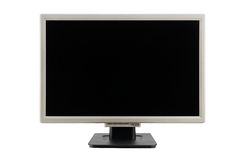 Liquid crystal flat computer monitor Royalty Free Stock Photos