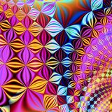 Liquid cubes. Abstract fractal background created with the fractal explorer Stock Photos