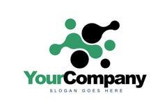 Liquid Dots Logo Stock Image