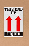 Liquid - This end up Royalty Free Stock Photos