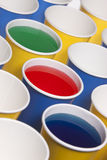 Liquid filled cups. Royalty Free Stock Photography