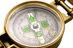 Liquid filled lensatic compass Royalty Free Stock Images