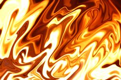 Liquid Fire. Flames rendered to give silky liquid appearance Royalty Free Stock Photo