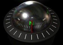 Liquid Floating Compass Stock Photography