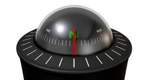 Liquid Floating Compass Stock Images