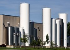 Liquid Food Silos Royalty Free Stock Photography