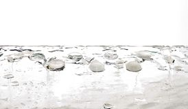 Liquid gems transparent white water drops. Abstract theme Stock Image