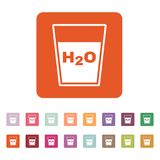 The liquid in glass icon. Water and drink, aqua symbol. Flat Royalty Free Stock Photos