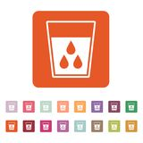The liquid in glass icon. Water and drink, aqua symbol. Flat Royalty Free Stock Images