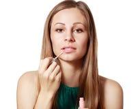 Liquid glossy lipstick Stock Photography