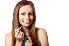 Liquid glossy lipstick Stock Image