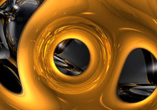 Liquid gold 02 Royalty Free Stock Images