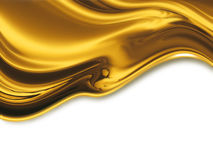 Liquid gold. Abstract design or art element for your projects Royalty Free Stock Photography