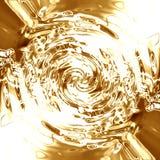 Liquid golden background Stock Photography