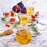 Liquid golden honey Stock Image