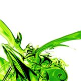 Liquid green fluid. Abstract 3d render of liquid green splash. Green fuel Royalty Free Stock Photo