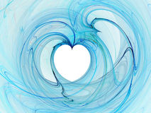 Liquid heart royalty free stock photo