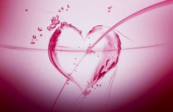 Liquid Heart Royalty Free Stock Images