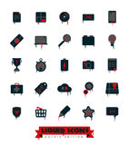 Liquid Icons Collection Gothic Edition Royalty Free Stock Photos