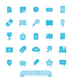 Liquid Icons Collection Melting Ice Edition Stock Image