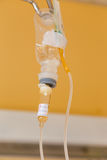 Liquid in infusion set Stock Photos