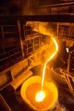 Liquid iron inside of plant Stock Images