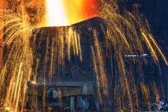 Liquid iron Stock Images