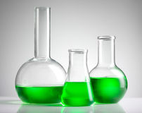 Liquid in laboratory glassware Stock Image