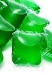 Liquid laundry detergent sachets Royalty Free Stock Photography